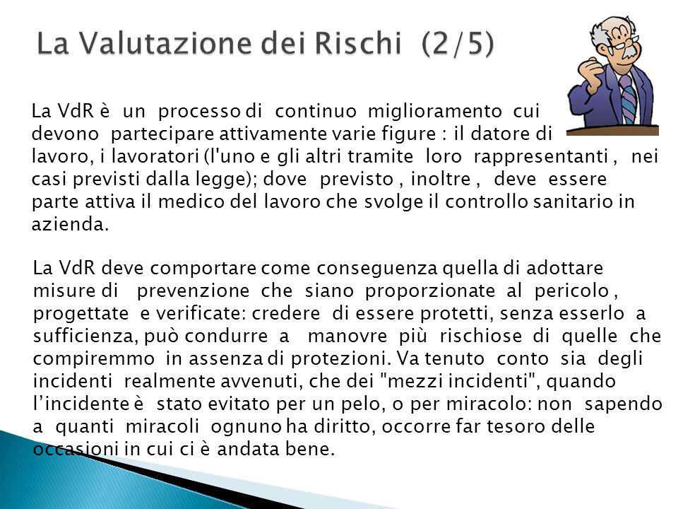 La VdR è un processo di continuo miglioramento cui devono partecipare attivamente varie figure : il datore di lavoro, i lavoratori (l'uno e gli altri