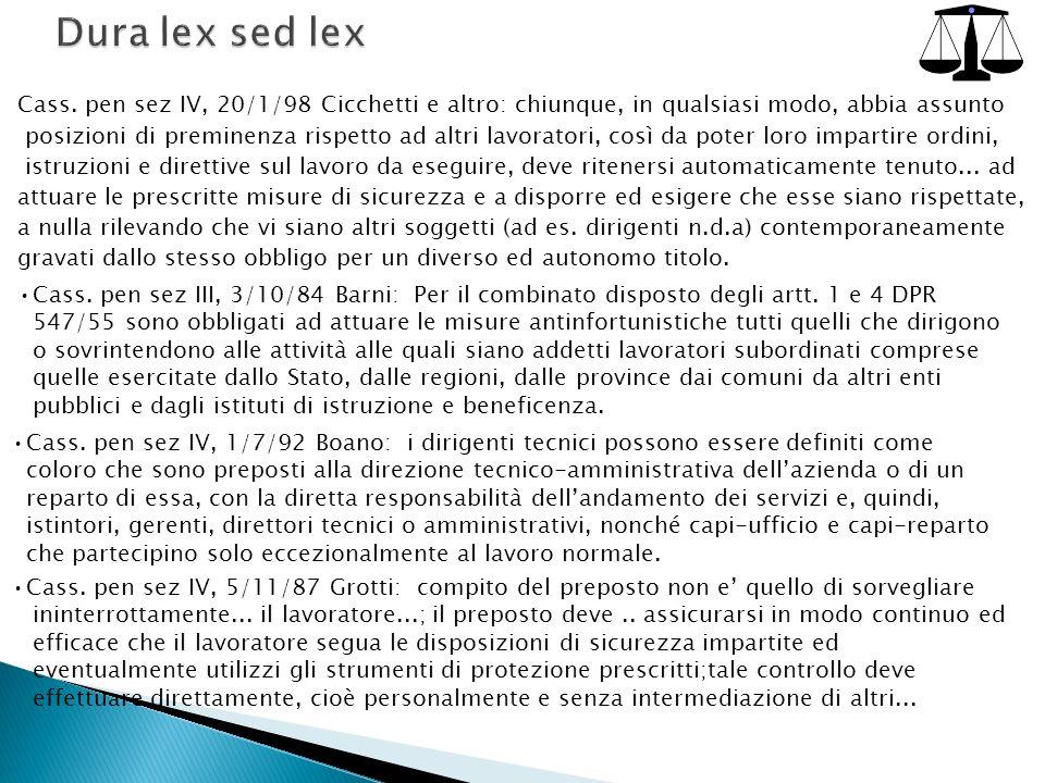 Cass.pen sez III, 3/10/84 Barni: Per il combinato disposto degli artt.