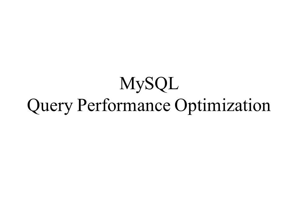 Per ottimizzare le query bisogna capire come MySQL le esegue In generale bisogna verificare : –se i dati richiesti sono tutti necessari –se il server e l applicazione lavorano con più dati del dovuto –lexecution time –il numero di righe esaminate –il numero di righe tornate