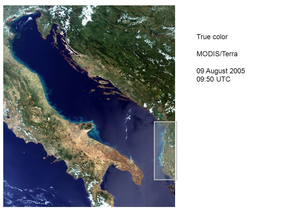 True color MODIS/Terra 09 August 2005 09:50 UTC