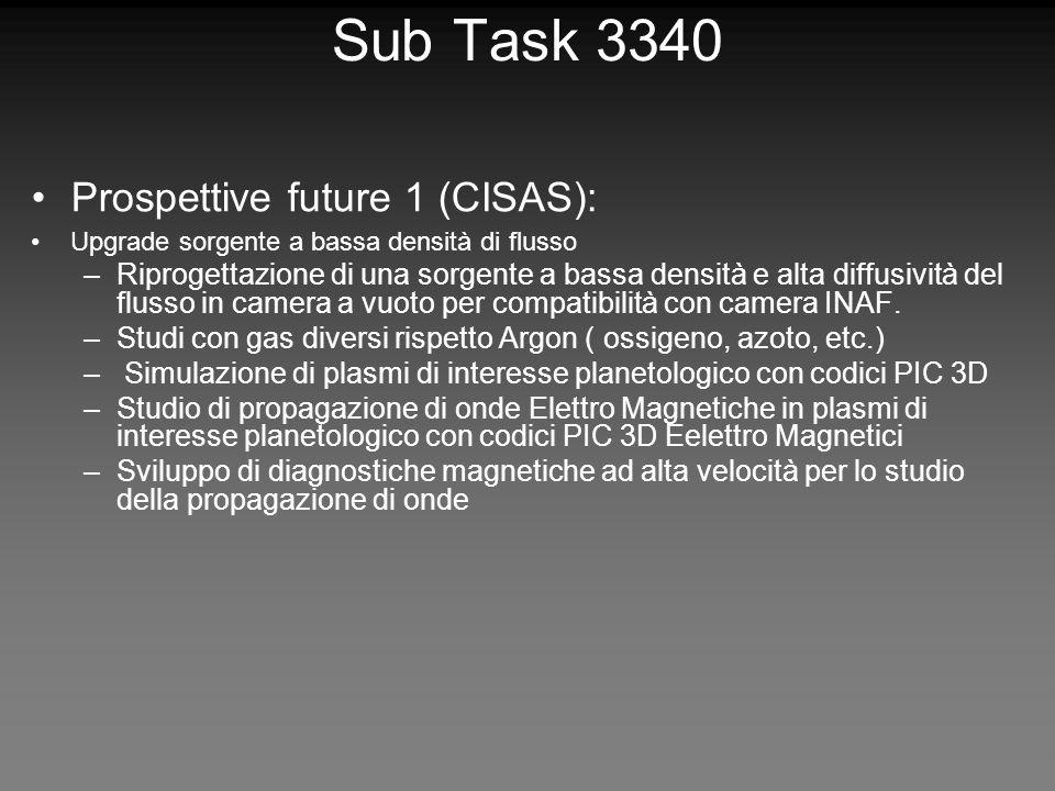 Sub Task 3340 Prospettive future 1 (CISAS): Upgrade sorgente a bassa densità di flusso –Riprogettazione di una sorgente a bassa densità e alta diffusività del flusso in camera a vuoto per compatibilità con camera INAF.