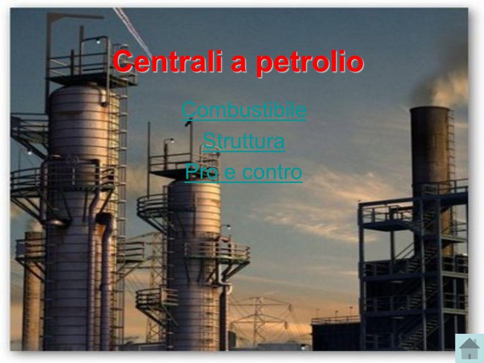 Centrali a petrolio Combustibile Struttura Pro e contro