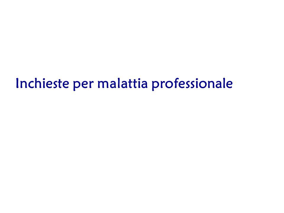 Inchieste per malattia professionale