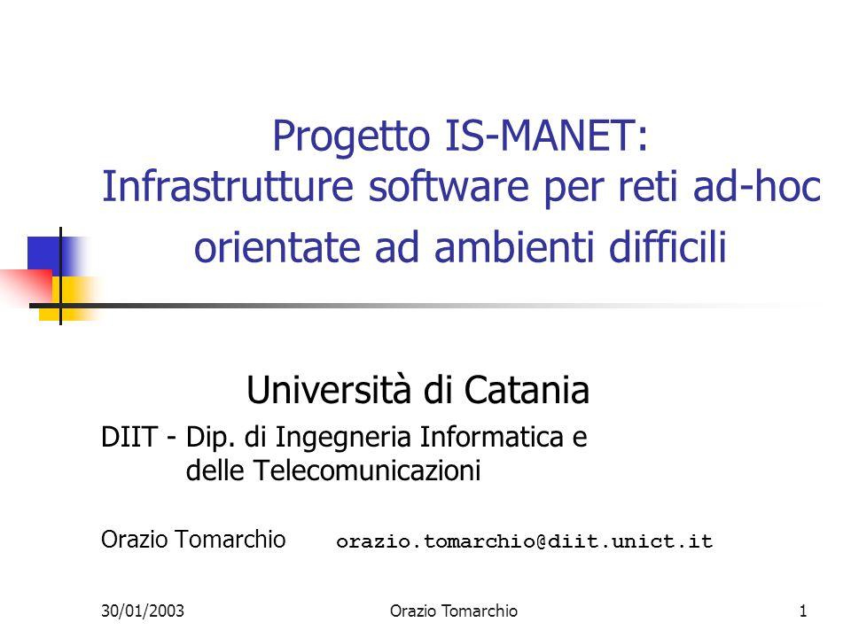 30/01/2003Orazio Tomarchio2 Componenti del gruppo Lorenzo Vita (PO) Orazio Tomarchio (Ri) Andrea Calvagna (AdR) Giuseppe Di Modica (D) Angelo Gargantini (TL)