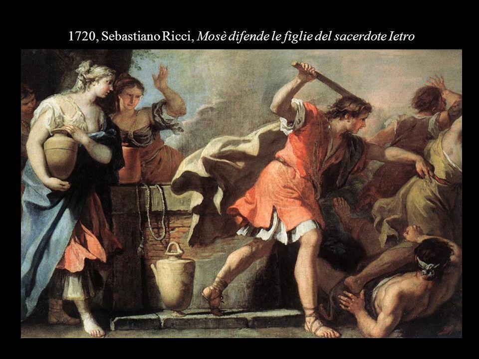1720, Sebastiano Ricci, Mosè difende le figlie del sacerdote Ietro