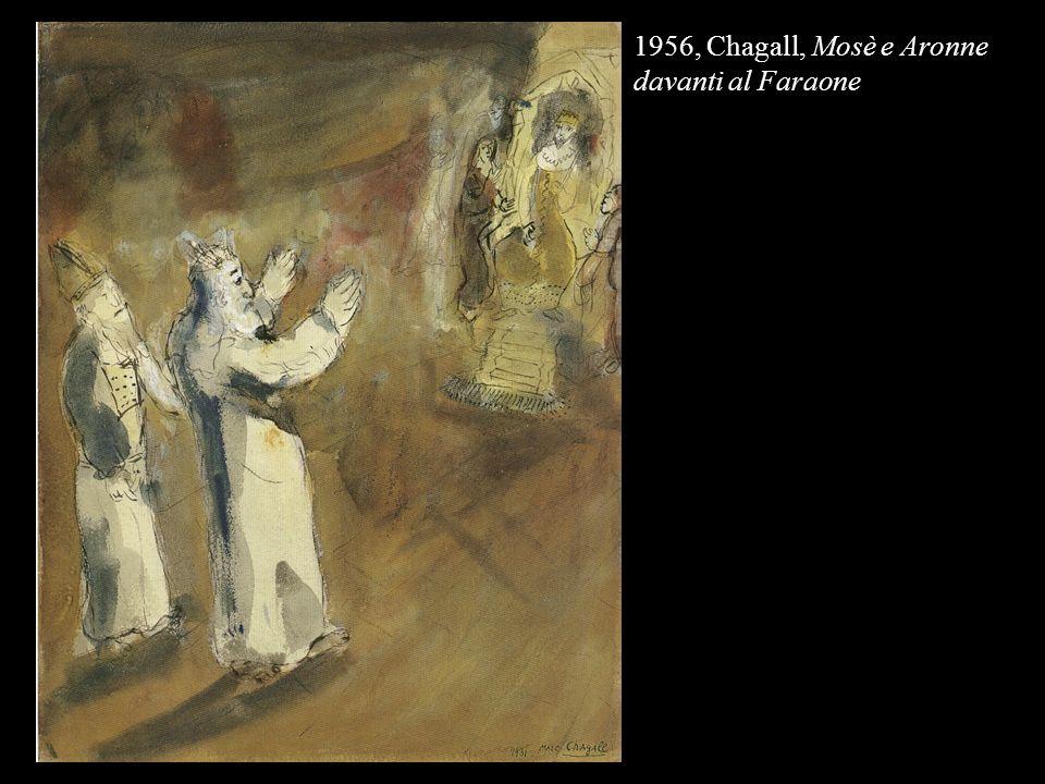 1956, Chagall, Mosè e Aronne davanti al Faraone