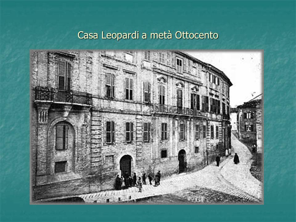 Casa Leopardi a metà Ottocento