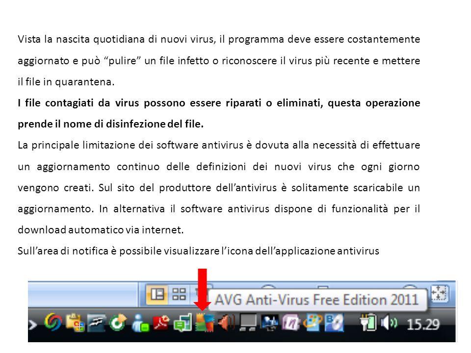 Vista la nascita quotidiana di nuovi virus, il programma deve essere costantemente aggiornato e può pulire un file infetto o riconoscere il virus più