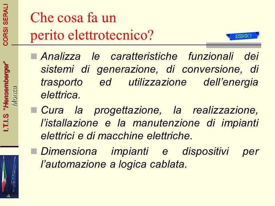 Elettrotecnica ed Automazione CORSI SERALI I.T.I.S Hensemberger Monza 4Italiano e Storia44 Classe IIIMATERIEClasse IVClasse V 2Inglese22 Economia Indu