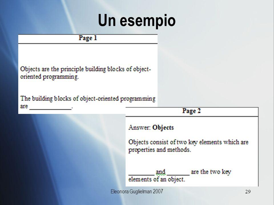 Eleonora Guglielman 200729 Un esempio