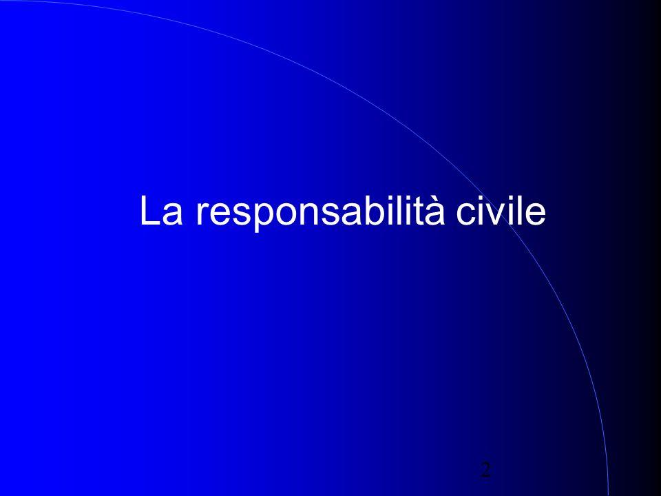 2 La responsabilità civile