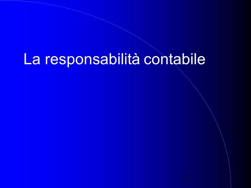 23 La responsabilità contabile