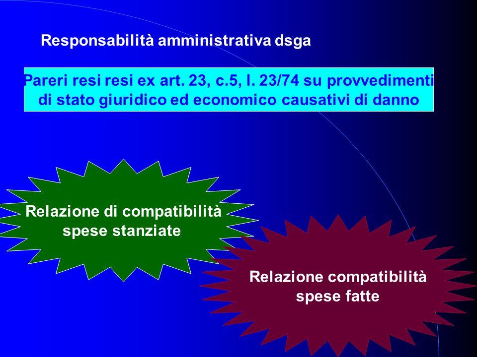 34 Responsabilità amministrativa dsga Pareri resi resi ex art.