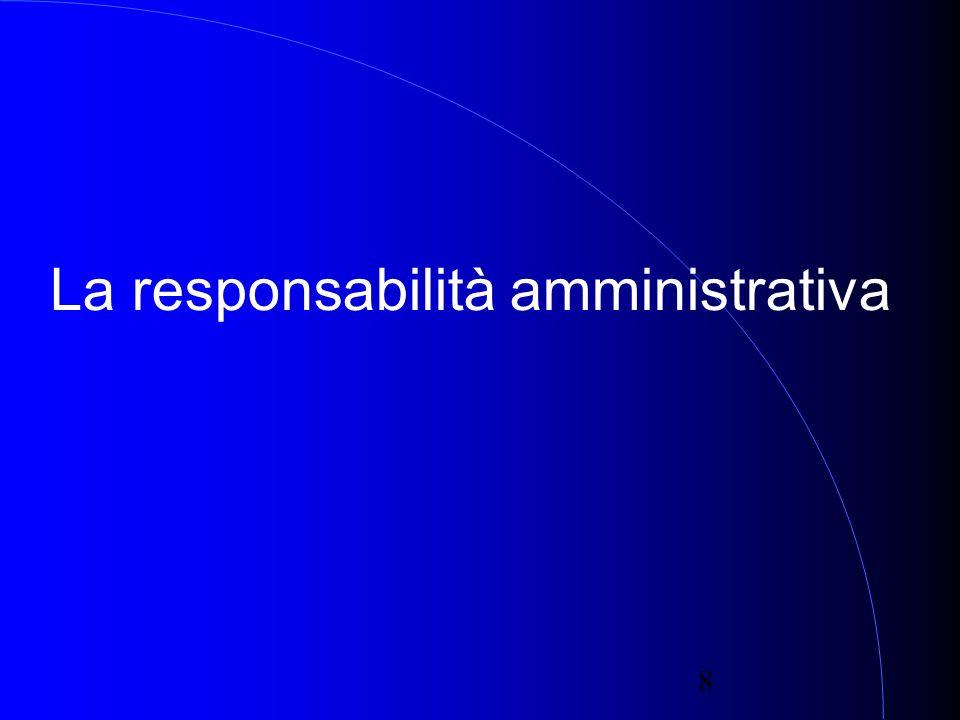 8 La responsabilità amministrativa