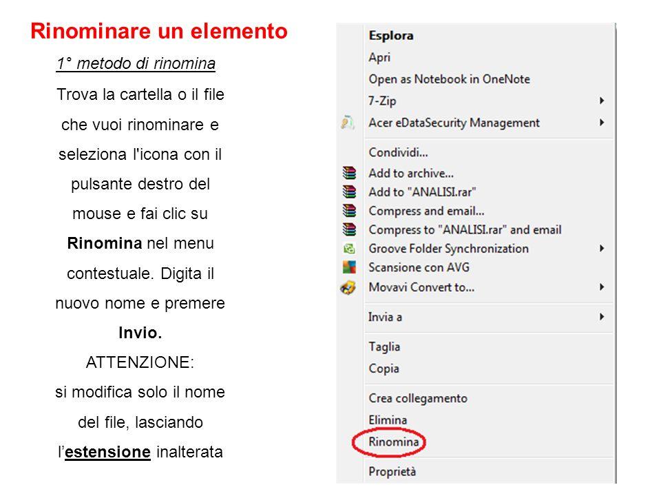 Trova la cartella o il file che vuoi rinominare e seleziona l'icona con il pulsante destro del mouse e fai clic su Rinomina nel menu contestuale. Digi