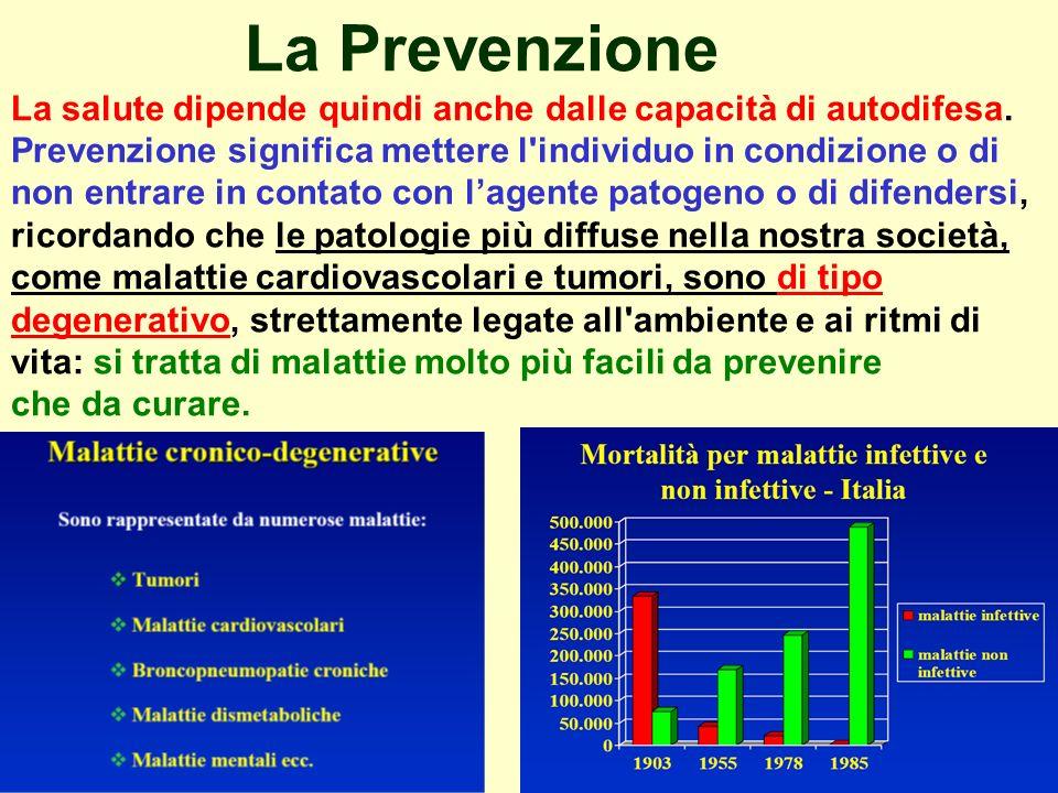 La Prevenzione La salute dipende quindi anche dalle capacità di autodifesa.