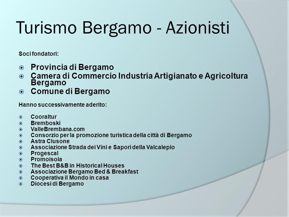 Turismo Bergamo - Azionisti Soci fondatori: Provincia di Bergamo Camera di Commercio Industria Artigianato e Agricoltura Bergamo Comune di Bergamo Han