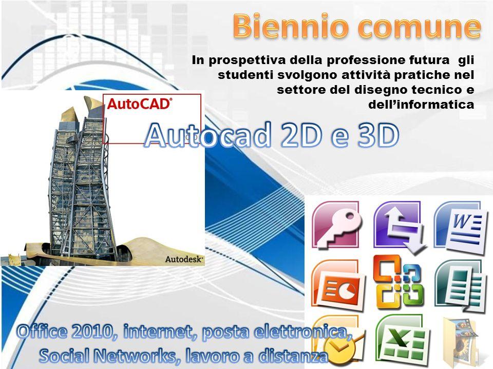 In prospettiva della professione futura gli studenti svolgono attività pratiche nel settore del disegno tecnico e dellinformatica