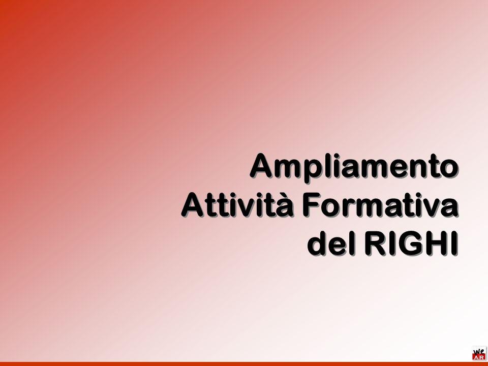 Ampliamento Attività Formativa del RIGHI