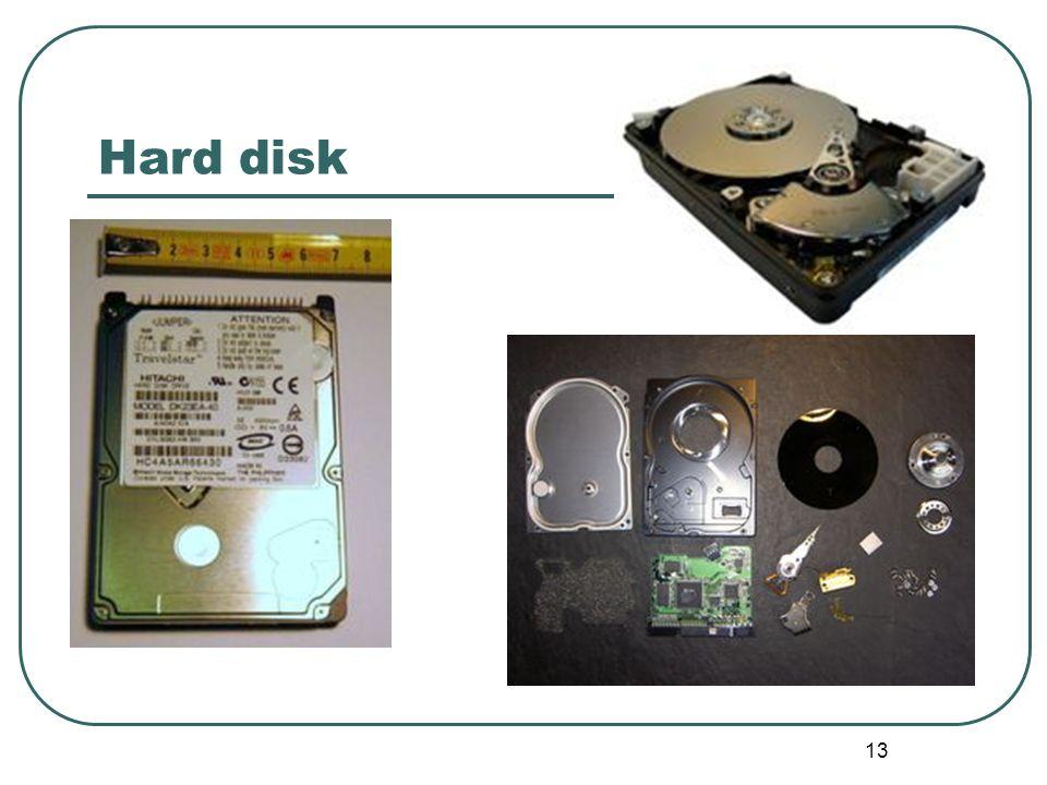 13 Hard disk