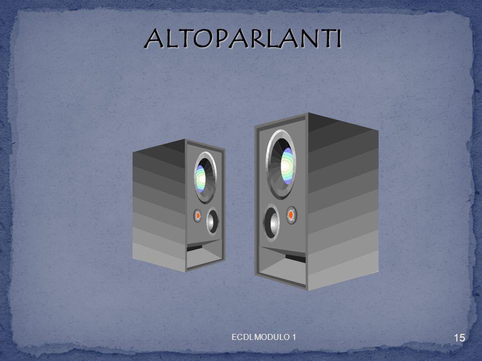 ALTOPARLANTI ALTOPARLANTI 15 ECDL MODULO 1