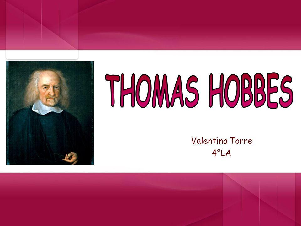 Vita di Thomas Hobbes Thomas Hobbes nasce a Malmesbury nel 1588.