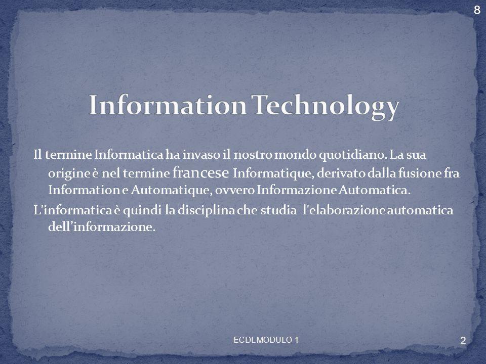 Il termine Informatica ha invaso il nostro mondo quotidiano. La sua origine è nel termine francese Informatique, derivato dalla fusione fra Informatio