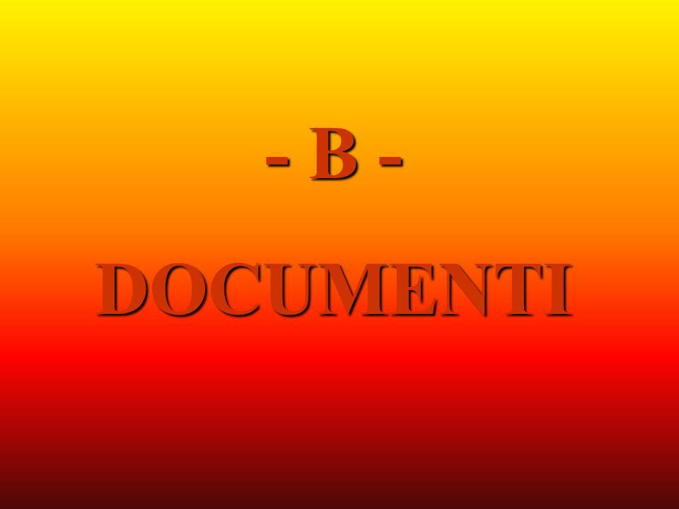 - B - DOCUMENTI