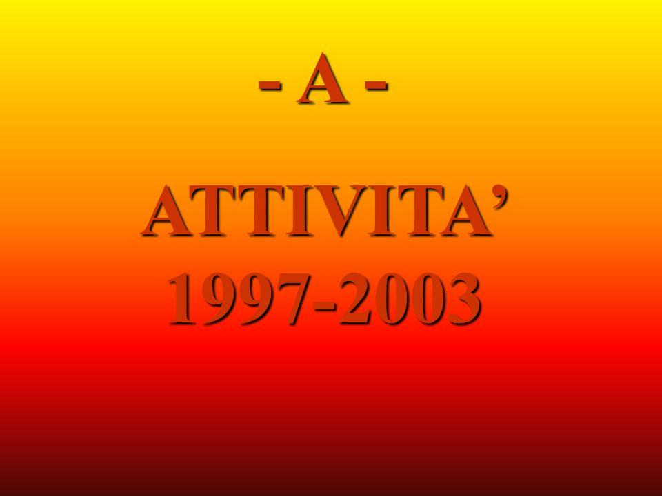- A - ATTIVITA 1997-2003