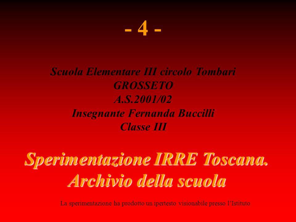 Sperimentazione IRRE Toscana.