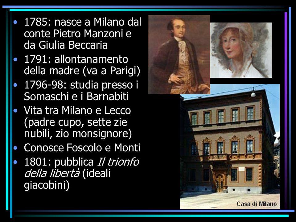 ALESSANDRO MANZONI Milano 1785-1873