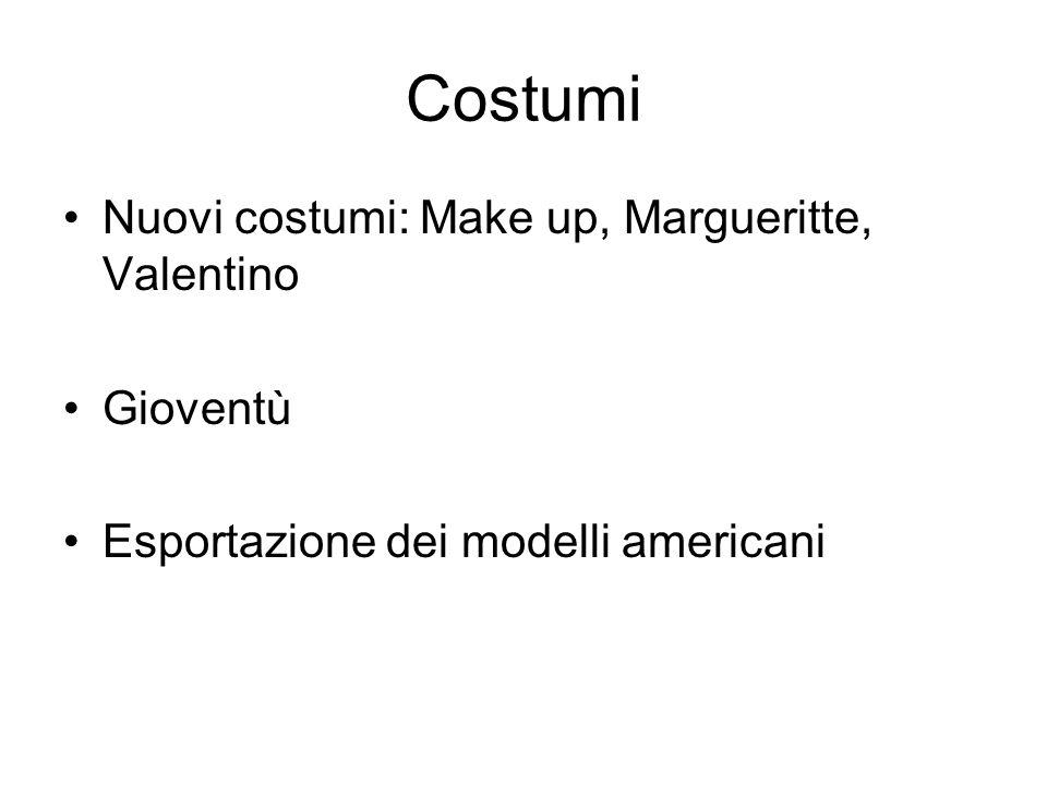Costumi Nuovi costumi: Make up, Margueritte, Valentino Gioventù Esportazione dei modelli americani