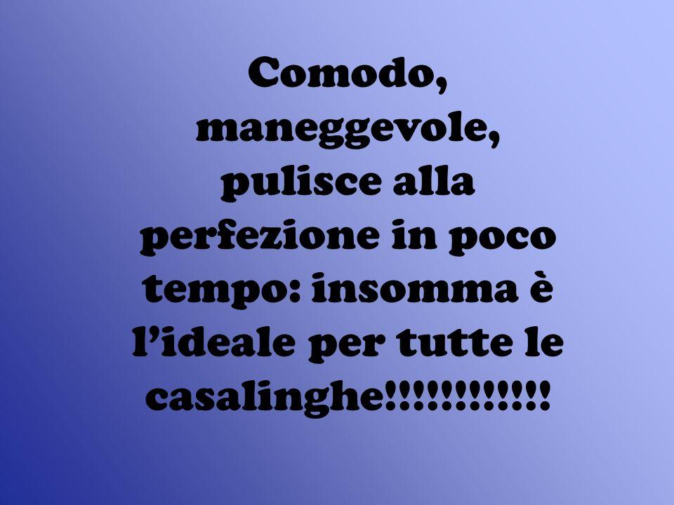 Comodo, maneggevole, pulisce alla perfezione in poco tempo: insomma è lideale per tutte le casalinghe!!!!!!!!!!!!