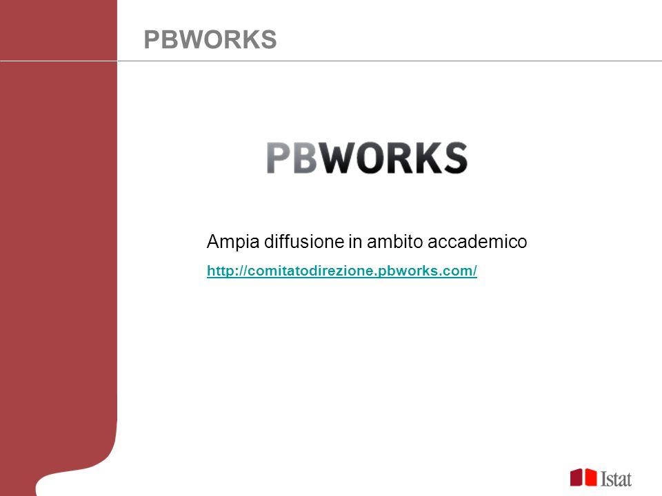 PBWORKS Ampia diffusione in ambito accademico http://comitatodirezione.pbworks.com/