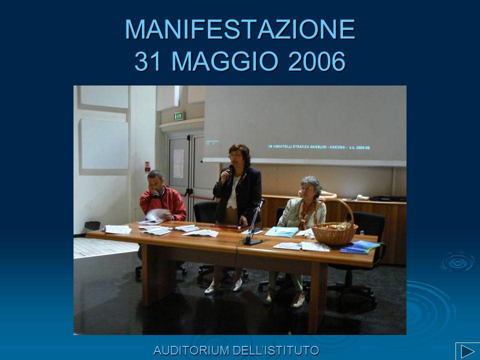 MANIFESTAZIONE 31 MAGGIO 2006 AUDITORIUM DELLISTITUTO