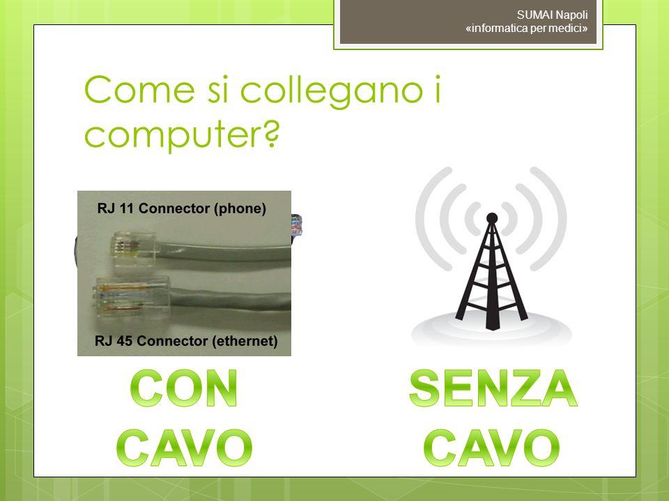 Come si collegano i computer? SUMAI Napoli «informatica per medici»