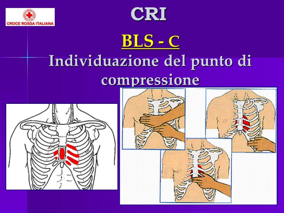 BLS - C Individuazione del punto di compressione CRI
