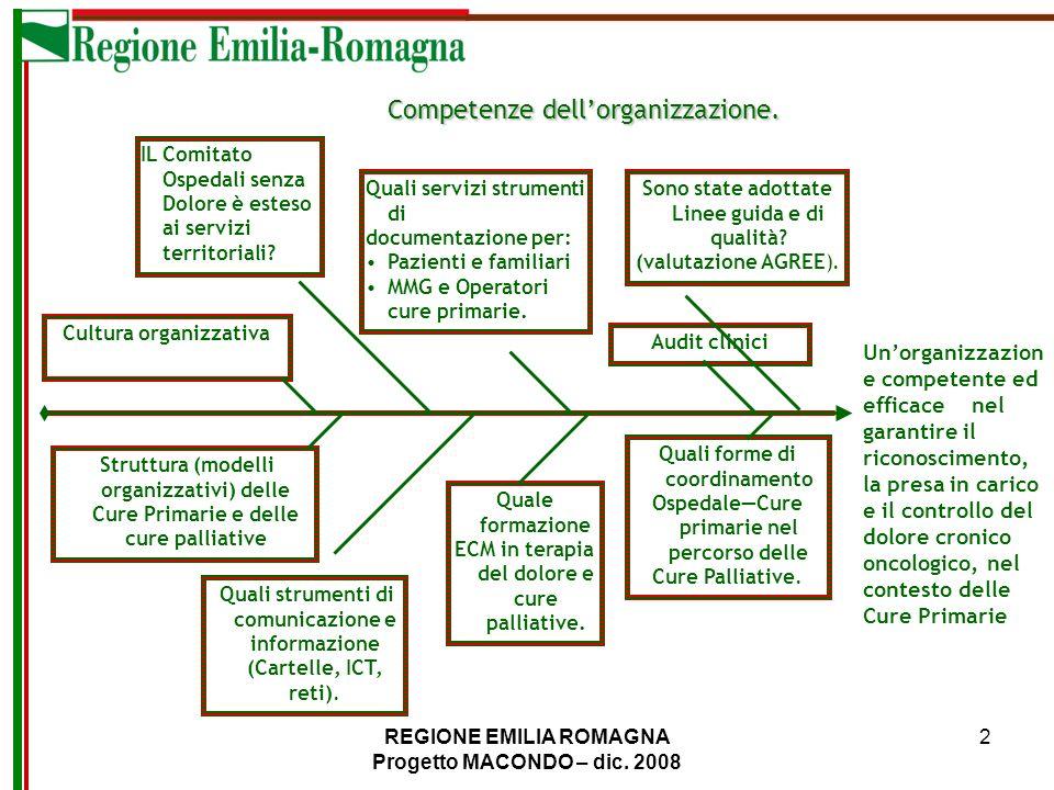 REGIONE EMILIA ROMAGNA Progetto MACONDO – dic. 2008 13 PROFILI DI COMPETENZA