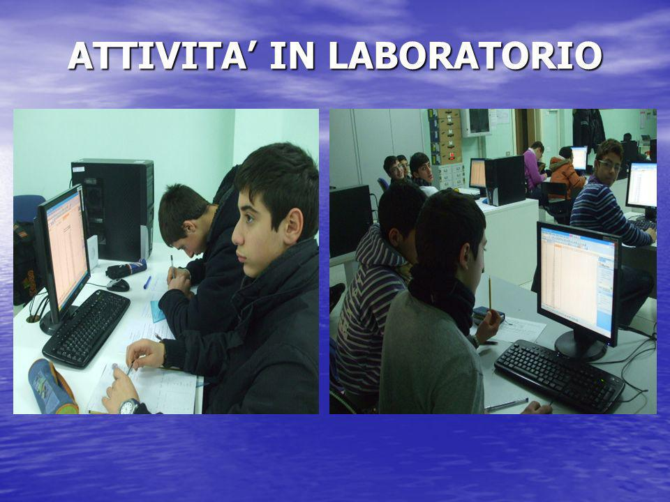 ATTIVITA IN LABORATORIO