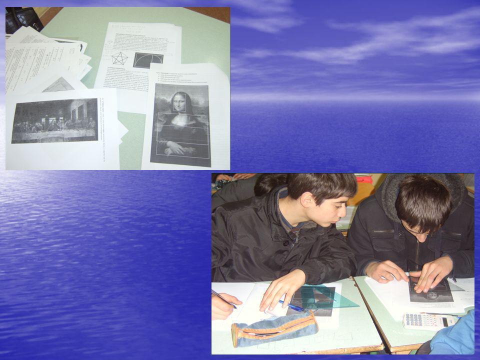 Abbiamo invitato gli alunni a ritrovare la divina proporzione nelle immagimi di Leonardo da Vinci e nelle dimensioni del Partenone.