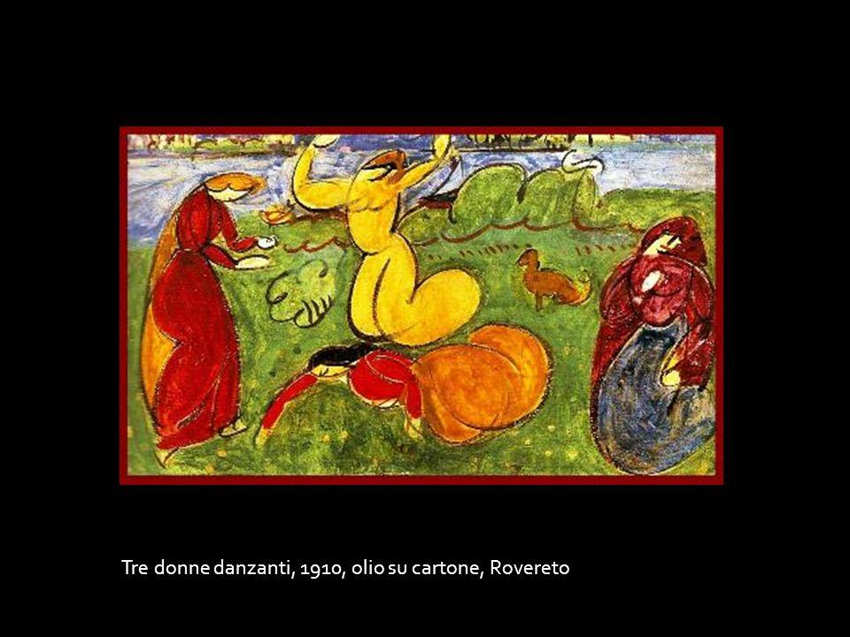 Tre donne danzanti, 1910, olio su cartone, Rovereto