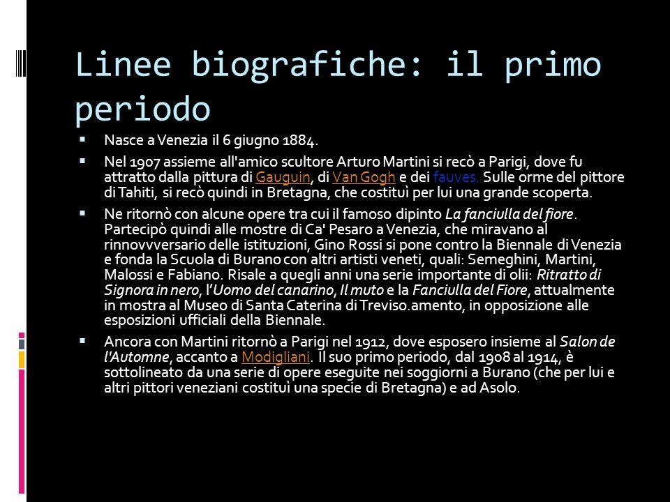 Linee biografiche: il primo periodo Nasce a Venezia il 6 giugno 1884.