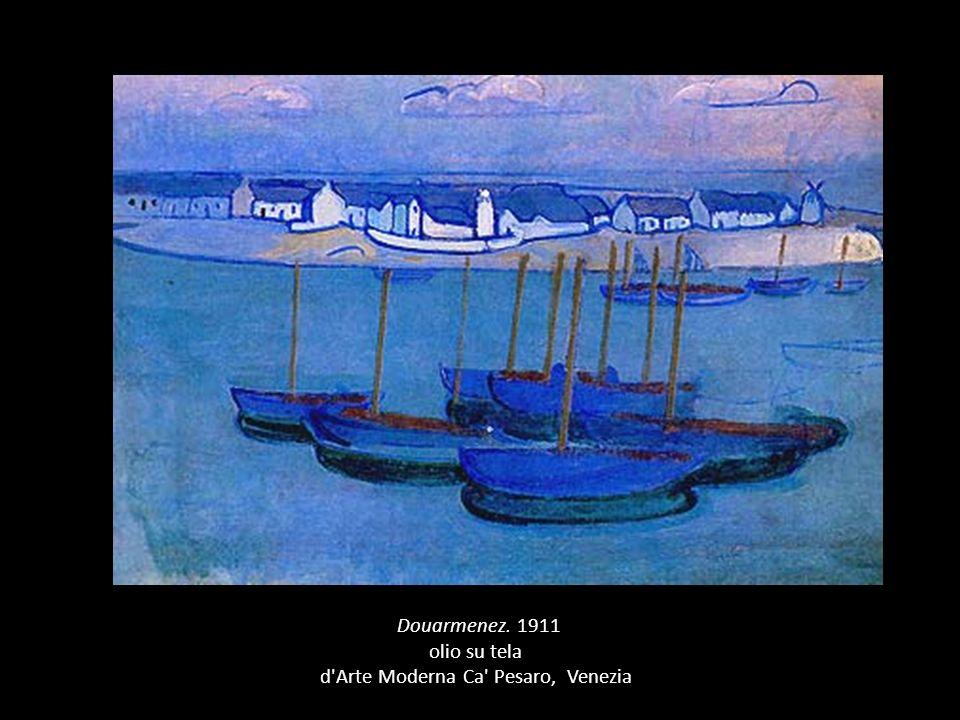 ( Douarmenez. 1911 olio su tela d Arte Moderna Ca Pesaro, Venezia