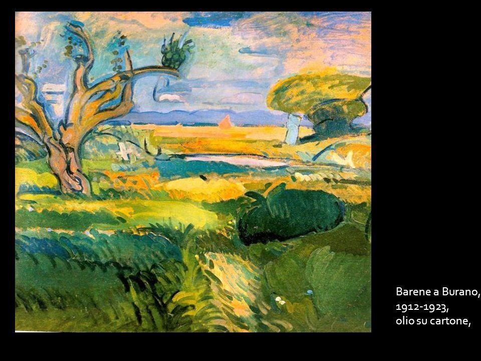 Barene a Burano, 1912-1923, olio su cartone,