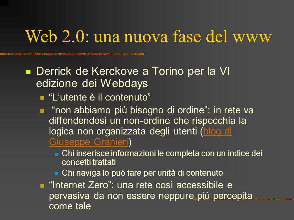 Derrick de Kerckove a Torino per la VI edizione dei Webdays Lutente è il contenuto non abbiamo più bisogno di ordine: in rete va diffondendosi un non-