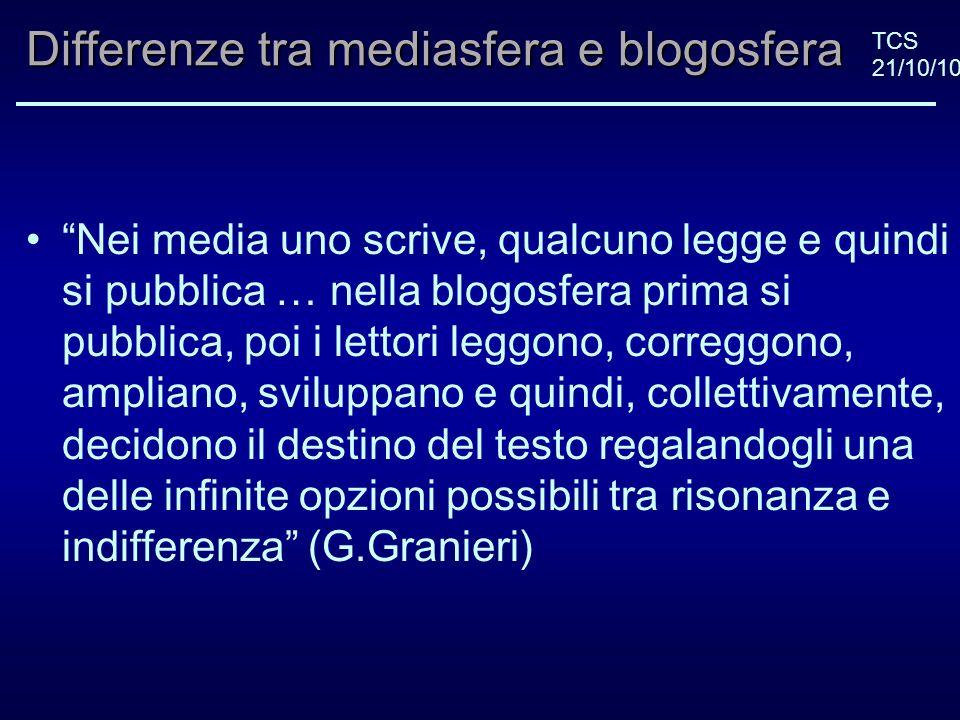 TCS 21/10/10Pulitzer Un anno fa il consiglio direttivo del Pulitzer ha cooptato un rappresentane delleditoria online sancendo così lintegrazione tra le due forme di giornalismo.