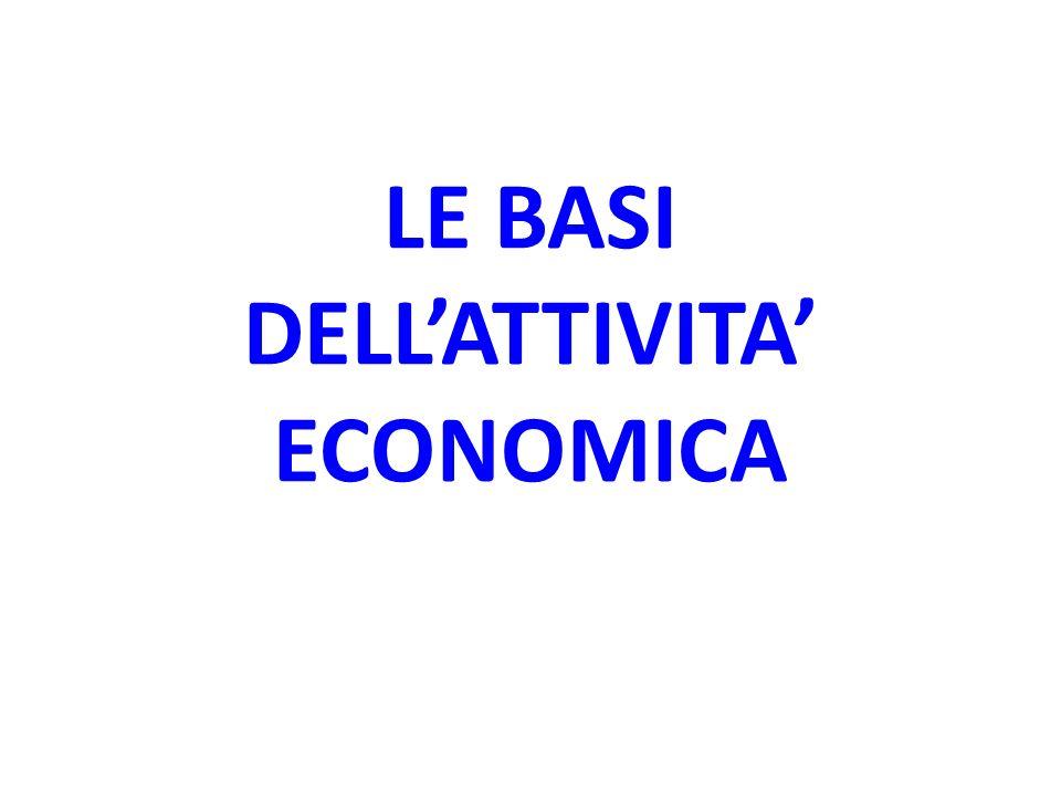 LE BASI DELLATTIVITA ECONOMICA