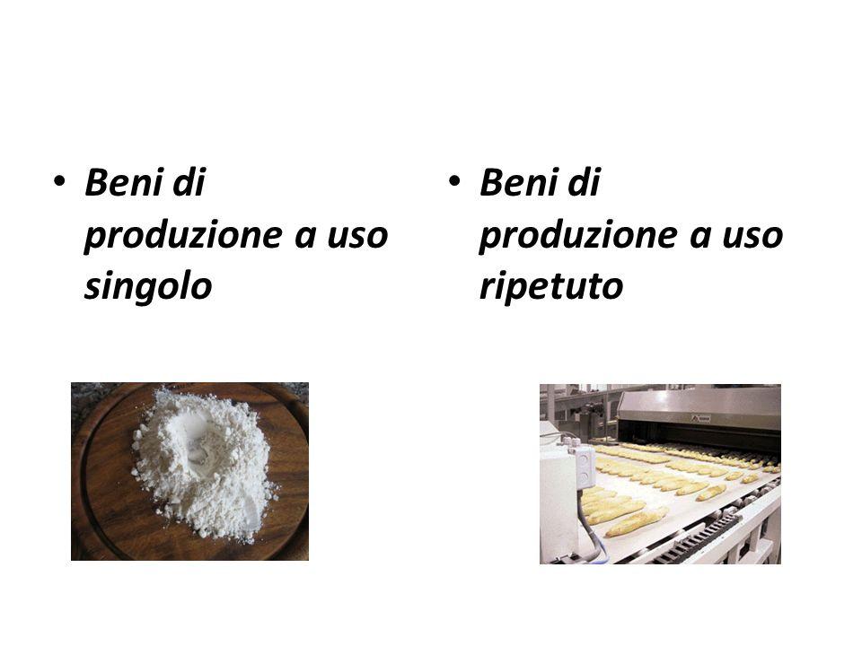 Beni di produzione a uso singolo Beni di produzione a uso ripetuto