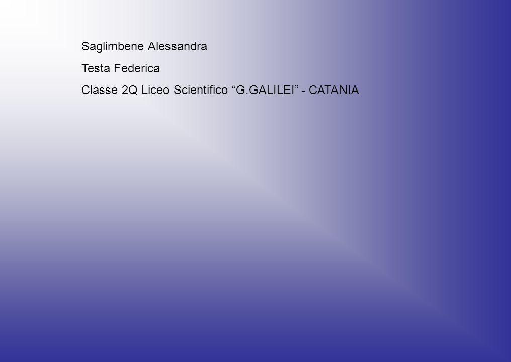 Saglimbene Alessandra Testa Federica Classe 2Q Liceo Scientifico G.GALILEI - CATANIA