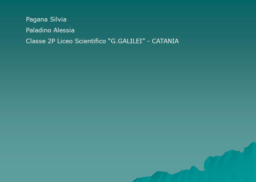Pagana Silvia Paladino Alessia Classe 2P Liceo Scientifico G.GALILEI - CATANIA